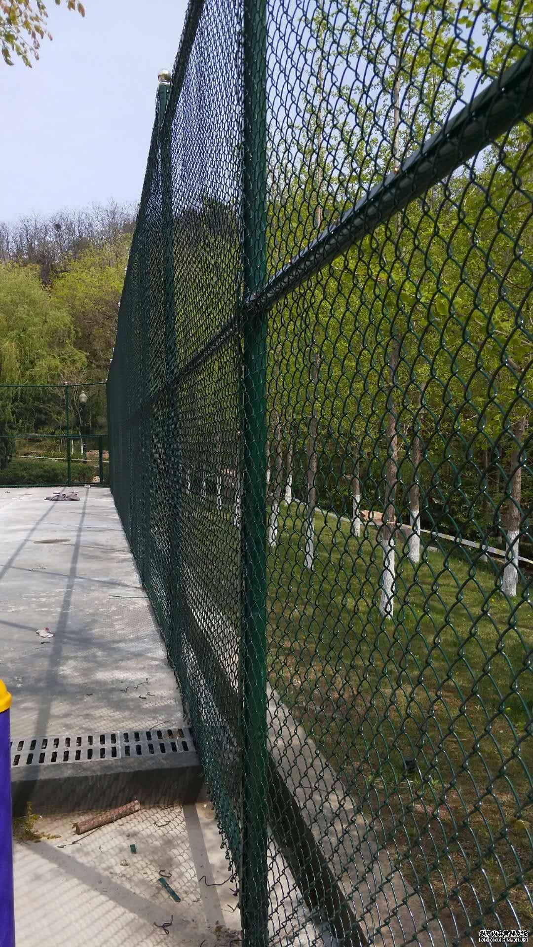 青岛球场围网-青岛市委党校球场围网安装验收通